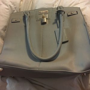 NWOT BCBG Paris gray purse w/ dust bag